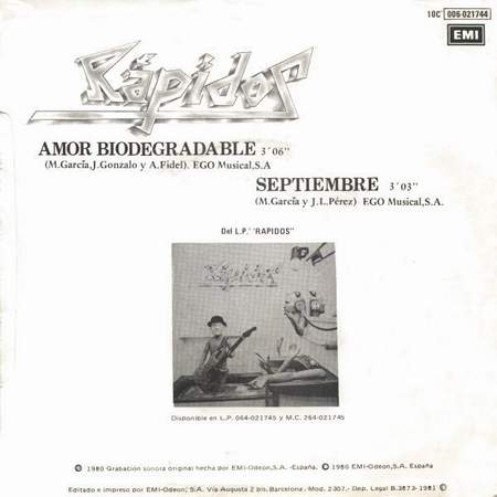 Amor Biodegradable - Contraportada